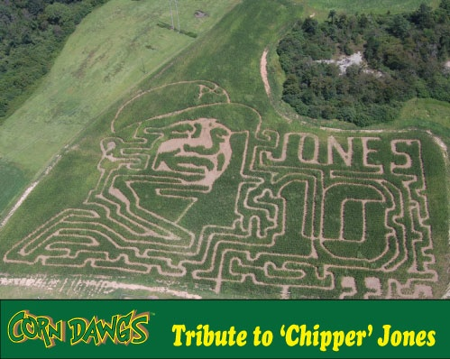This is too funny...a cornfield maze dedicated to Chipper Jones.  :)