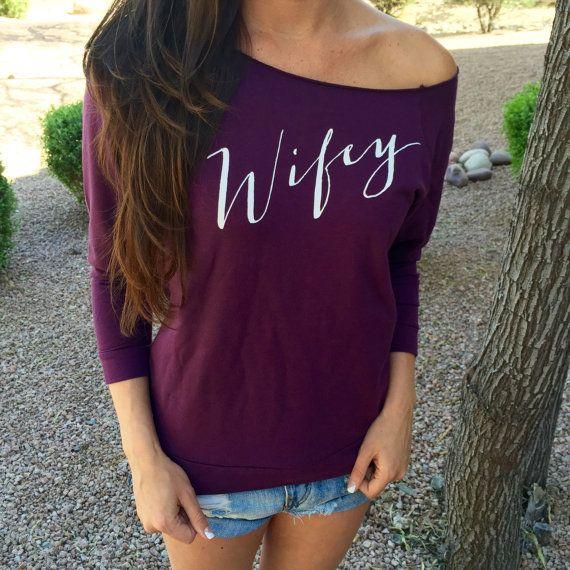 Wife Sweatshirt. Wife Tshirt. WIfe Shirt. Wifey. by ShirtMarket