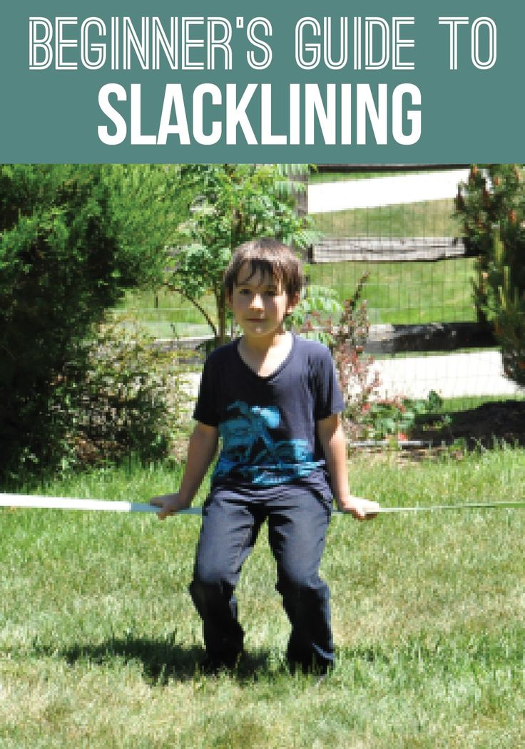 This kid's slackline is a fun activity that helps to build balance, coordination and strength in your children.