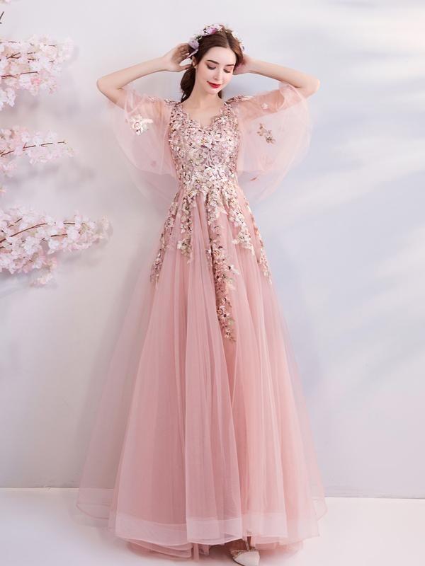 Pink Bride Wedding Dinner Annual Party Dress Skirt 6188t Pink Ball Gown Ball Gown Dresses Evening Dresses