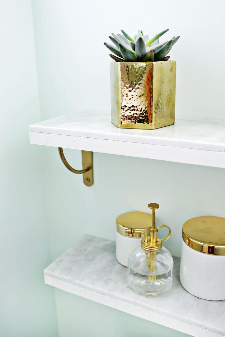 Marble Shelving DIY—Love this! (click through for tutorial) (scheduled via http://www.tailwindapp.com?utm_source=pinterest&utm_medium=twpin&utm_content=post92047803&utm_campaign=scheduler_attribution)
