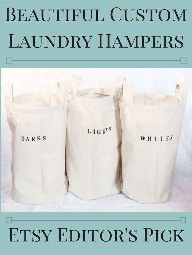 I adore these sturdy cotton duck hampers. These would look chic in a farmhouse style laundry room. You can even customize them with whatever words you want, so would also work as a great gift. The item was even named an etsy editor's pick, it's that awesome! #affiliatelink #etsy #etsyfind #laundryroom #farmhousestyle #farmhousedecor #hamper #laundryday #vintagedecor #laundryroomdecor #farmhouselaundry #commissionlink #oybpinners