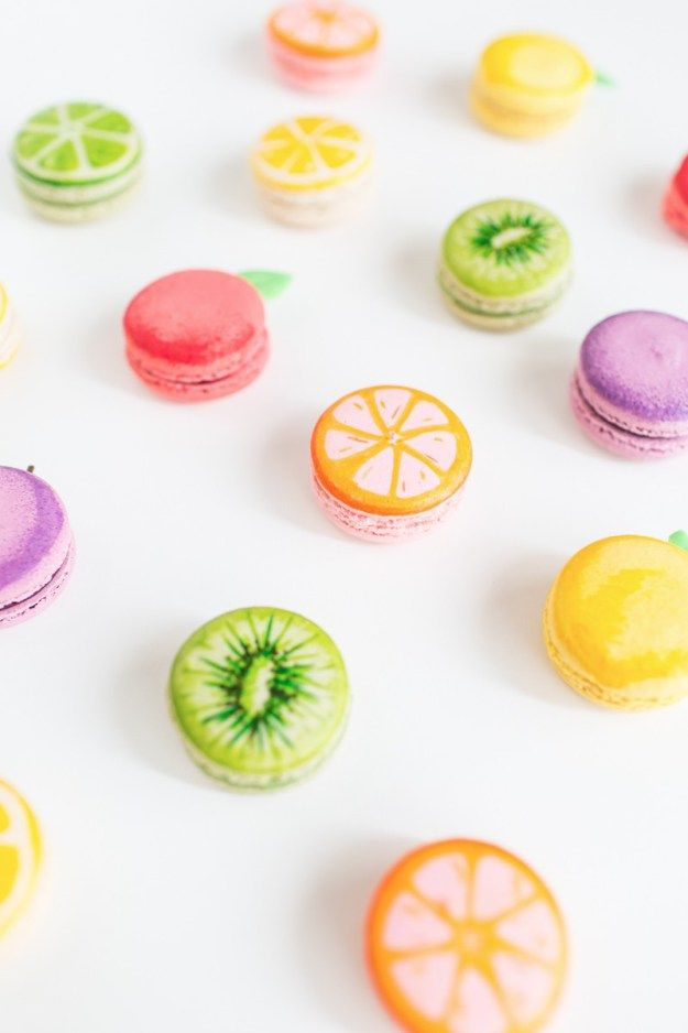 how to make fruit macarons