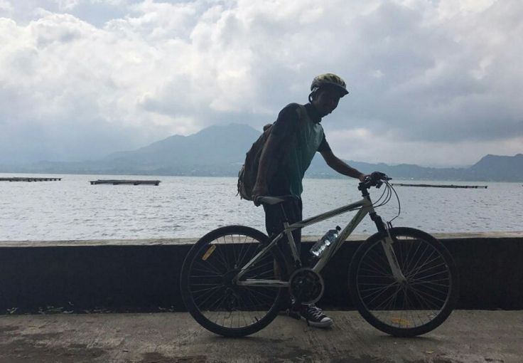 The program that we named this Batur Caldera Cycling, is a program of cycling along the shores of La