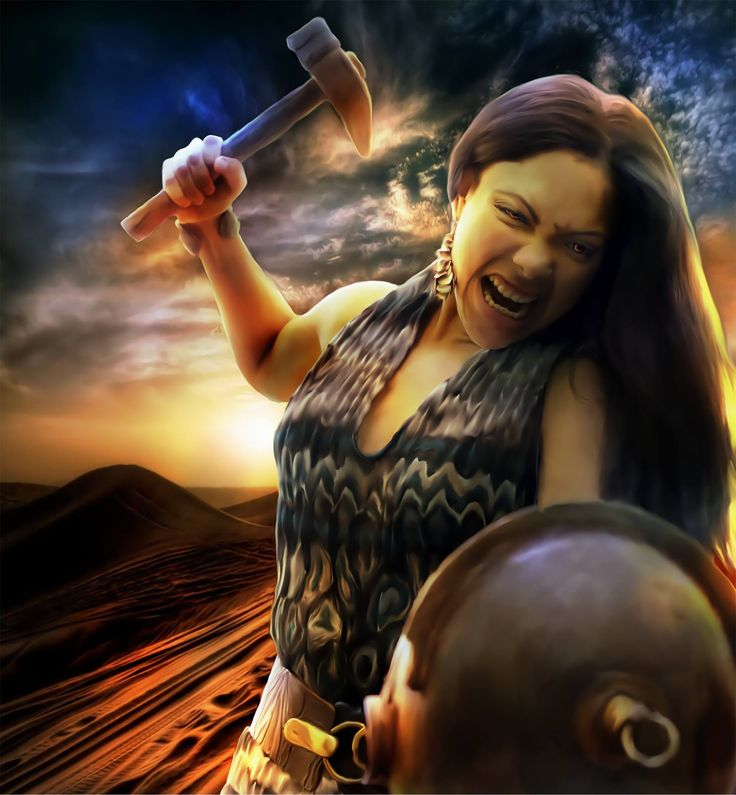 Malina, art by Kelly Burrows, for Enemy of Rome