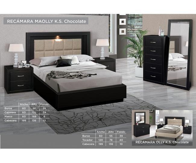 Recamara Maolly King Size Chocolate Interiores De Recamaras Muebles Para Recamara Muebles De Dormitorio Modernos