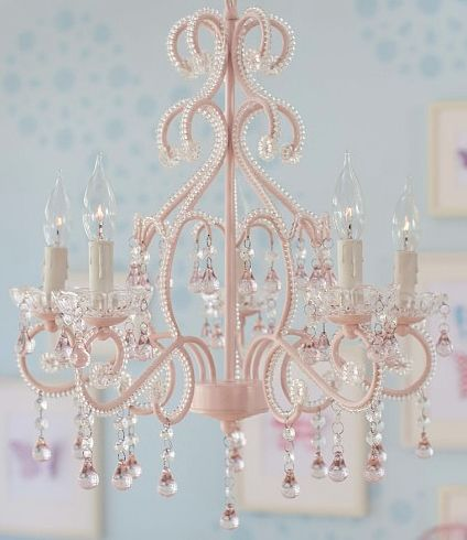 pretty girl's room chandelier