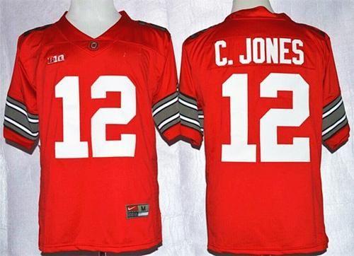 "$25.88 at ""MaryJersey"" (maryjerseyelway@gmail.com) #12 Cardale Jones, #16 J. T. Barrett, #97 Joey Bosa - Buckeyes Red Diamond Quest Stitched NCAA Jersey"