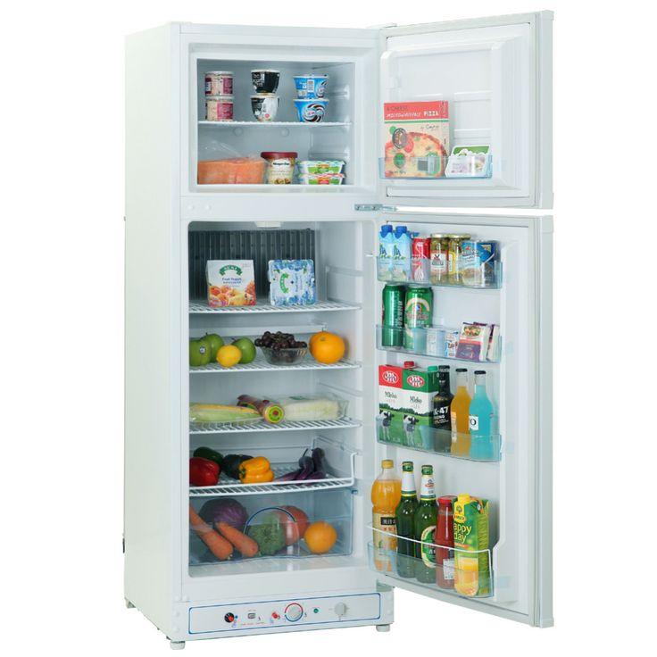 Smad 110 V-220 V Gaz Hiçbir Freon Çift Kapılı Buzdolabı Ev Kullanımı Düşük Gürültü Elektrikli Emme Propan Buzdolabı dondurucular