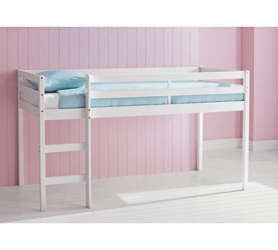 Buy HOME Wooden Single Midsleeper Bed with Ashley Mattress-White at Argos.co.uk, visit Argos.co.uk to shop online for Children's beds, Children's furniture, Home and garden