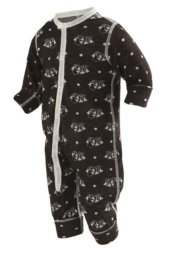 Tipsy ull/silke pyjamas/lekedress BRUN - KRABATEN.no- NETTBUTIKK