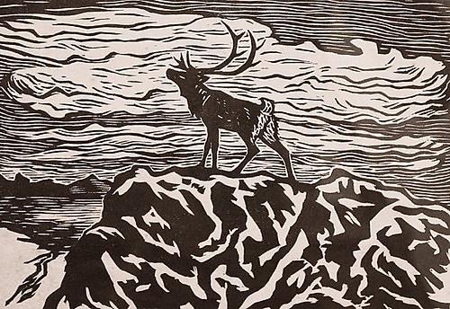 John Savio, Alene (Okto), woodcut