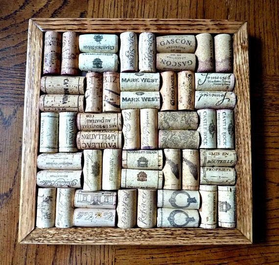 Wine Cork Board Trivet Large 10 by 10 Wine Collector's