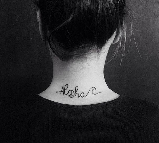 beautiful Aloha tattoo #tattoo #tatuaje #aloha #hawaii