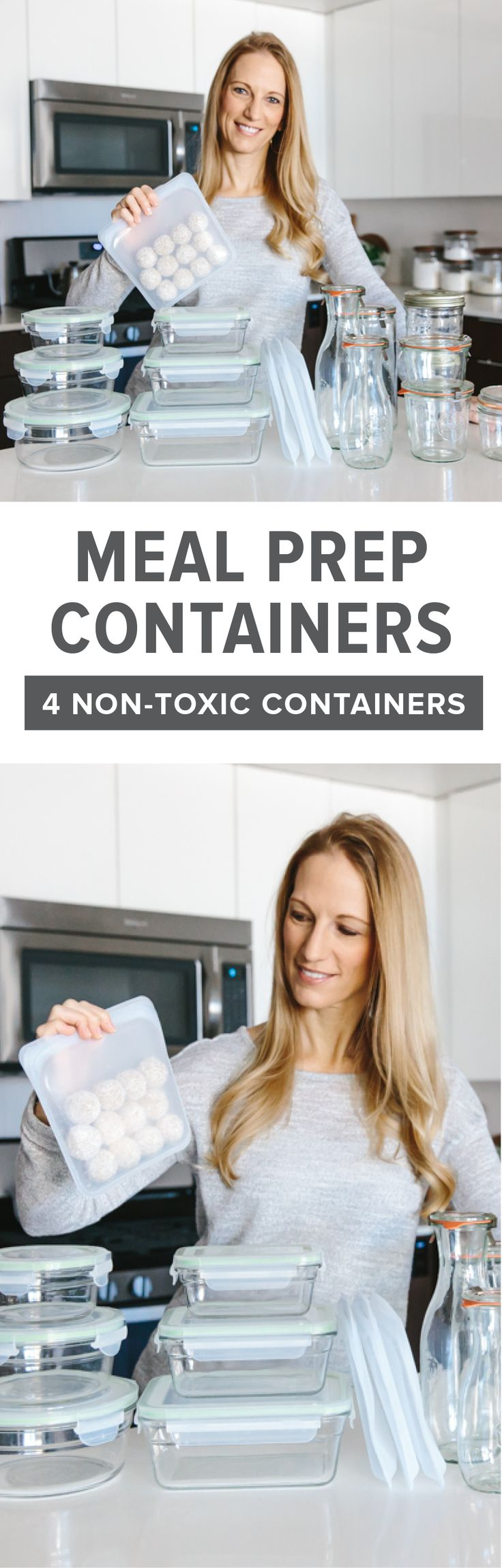 The best meal prep containers are durable and reusable, can be used in both cold storage and warmed up and are non-toxic. That means no plastic. So my favorite meal prep containers are all made from glass and silicone. #mealprep #mealprepcontainers