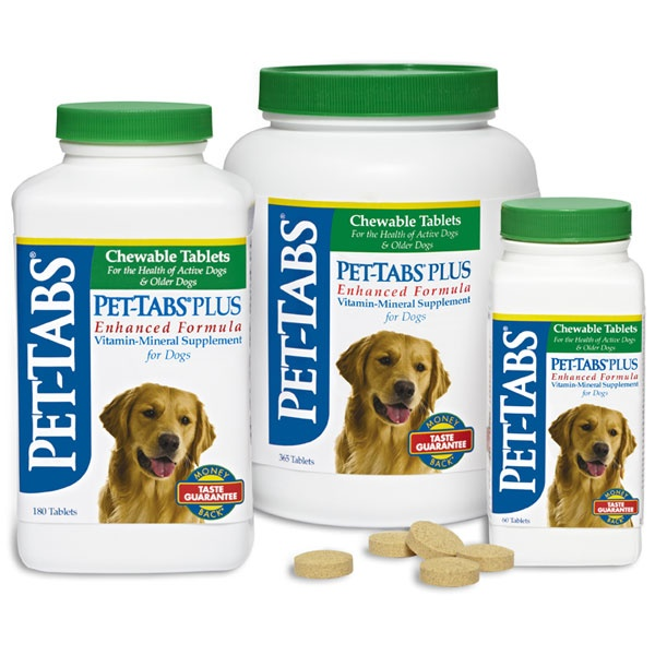 Pet-Tabs Plus® Supplement Tablets for working and performance dogs is fortified with additional nutrients for dogs with problem skin and coat.
