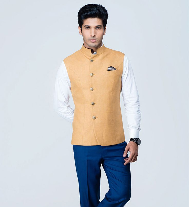 Indian waistcoats, better known as Nehru Jackets, custom made from premium fabrics at SS HOMME