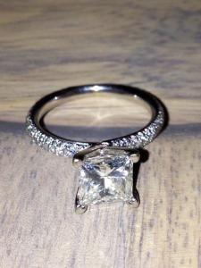 105 best Princess Cut Engagement Rings we Love images on Pinterest
