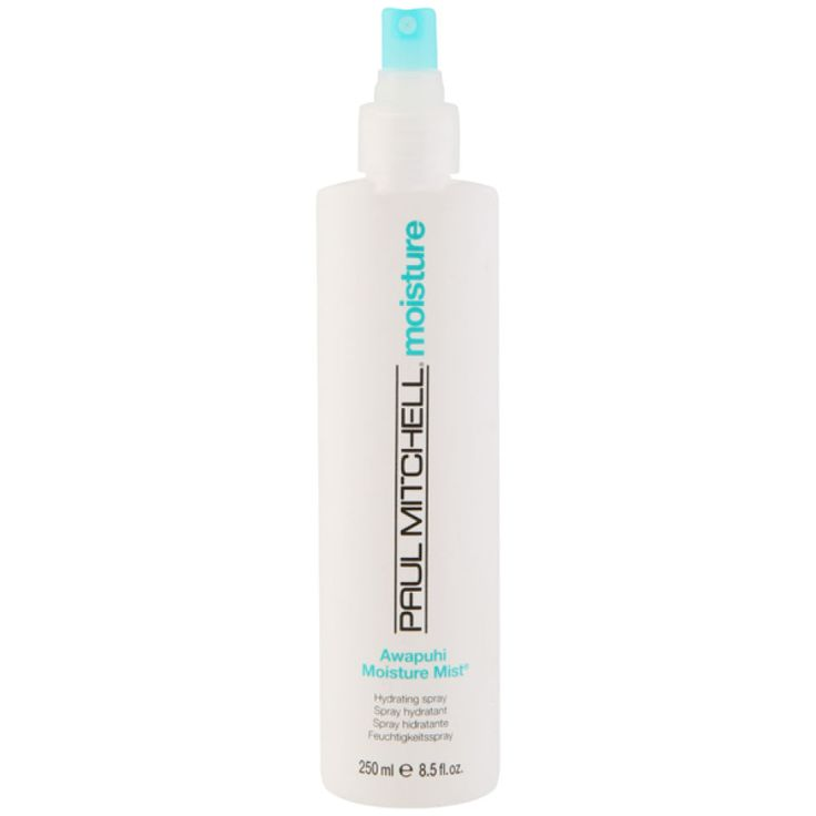 Paul Mitchell Awapuhi Moisture Mist is an all-over skin and hair hydrant that replaces natural moisture, which is lost easily throughout the day. This hydrating spray is excellent for reactivating sty