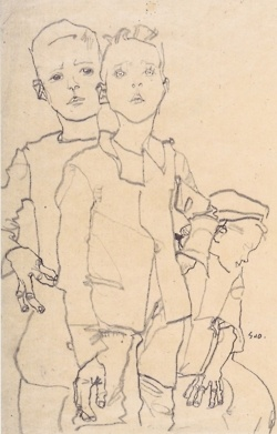 "By Egon Schiele, one of the art students who was accepted when Hitler was not, leaving him to wonder aloud, ""What if...?"""