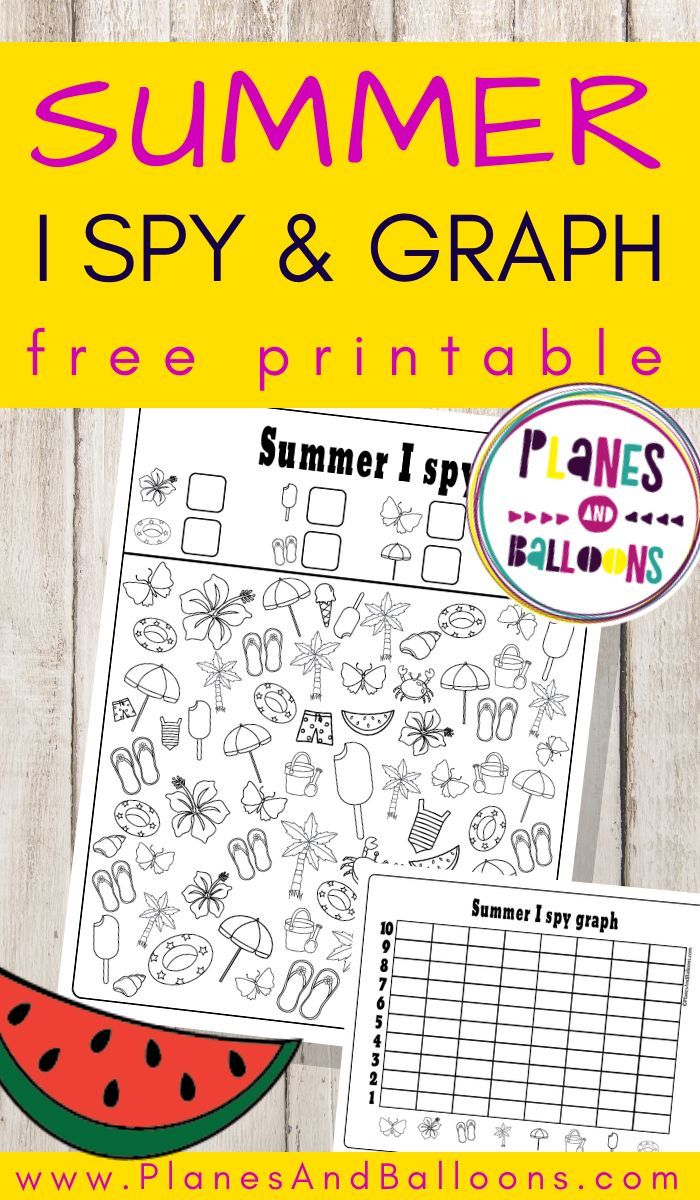 Summer I Spy Free Printable Worksheets For Counting And Graphing Kindergarten Summer Activities Graphing Activities Summer Worksheets [ 1200 x 700 Pixel ]