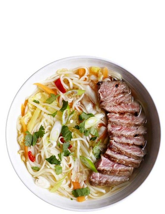 This recipe for beef ramen is comfort in a bowl. It doesn't have to take hours to make, though. This version is ready in under 30 minutes and comes in at under 500 calories, making it achievable midweek.