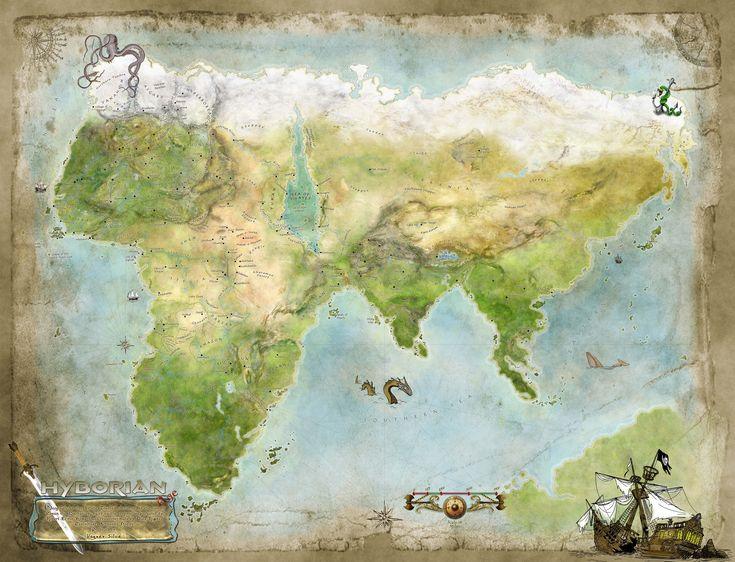 Thurian Map - Hyborian Age of Conan The Barbarian by Vathelos.deviantart.com on @DeviantArt