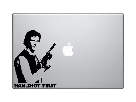 Star Wars Han Solo Han Shot First Decal for by VinylInfinity, $5.00