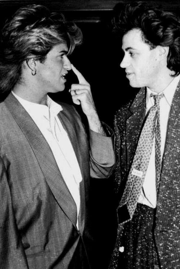 George Michael and Bob Geldof