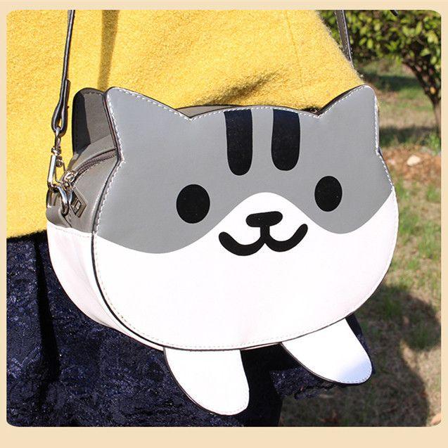 Grey Kitten PU Bag SP164825 - SpreePicky  - 1