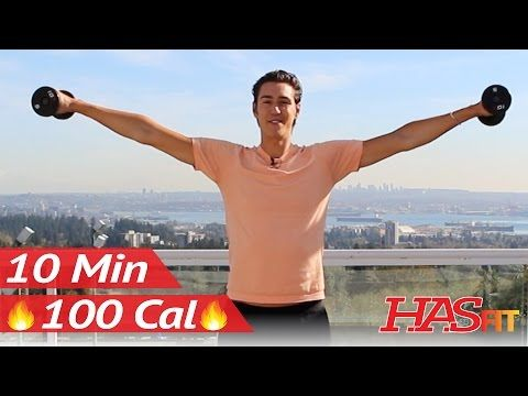 10 Min Upper Body Barre Workout at Home w/ Zachary Fiorido's Beauty and the Fit - Pure Barre Method - YouTube