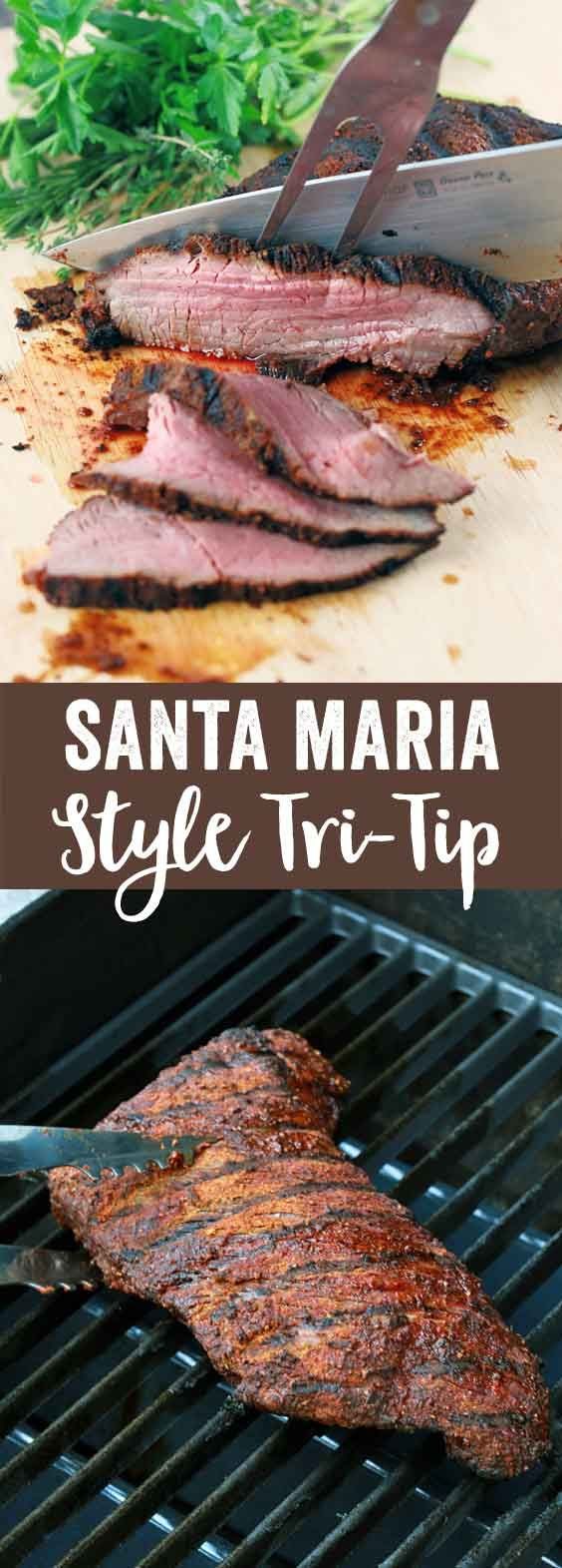 Santa Maria Style Tri-Tip - A quick and delicious recipe perfect for barbecue season! A smoky, sweet and spicy spice rub makes this cut of beef more flavorful. | jessicagavin.com via @foodiegavin