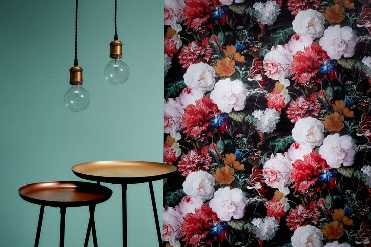 de vrolijke bloemenprint van behang JAN DAVIDSZ via kwantum #vliesbehang