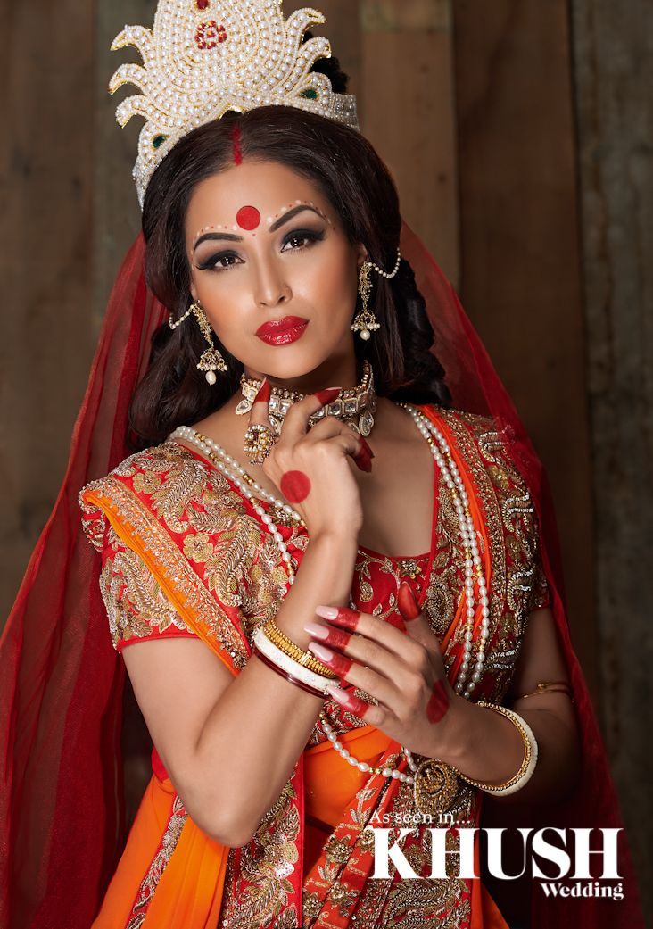 Jassi Lall creates this luminous authentic Bengali bridal makeup look. London based, Nationwide coverage T: +44(0)7580 274 927 Email: makeupbyjassilall@hotmail.com Outfit: Zarkan of London Jewellery: Anees Malik