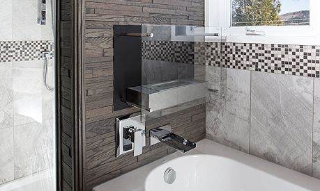 Debussy, give your bathroom a different look using the Friendly Wall.