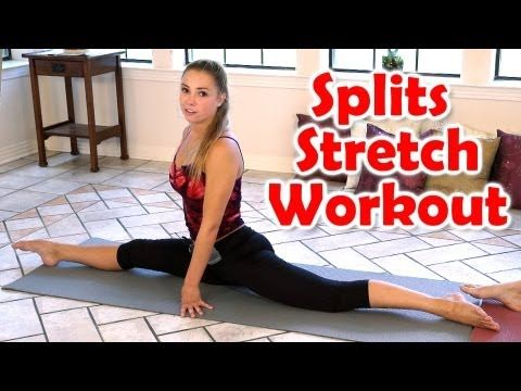 12 Minute Splits Stretch Flexibility Workout For Beginners How To Tutorial - YouTube