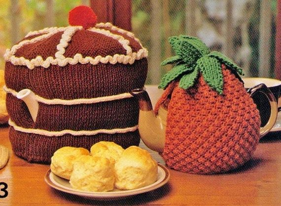 VINTAGe 1960s TeAPOT COSIeS SeT Of 2 by Crafting4Ever2013 on Etsy, $2.00  INSTANT DOWNLOAD KNITTING PATTERN ONLY
