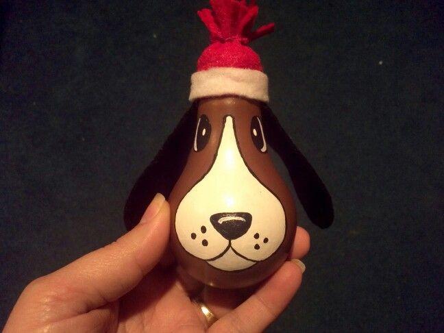 Dog light bulb ornament - made by Paula Wroblinski