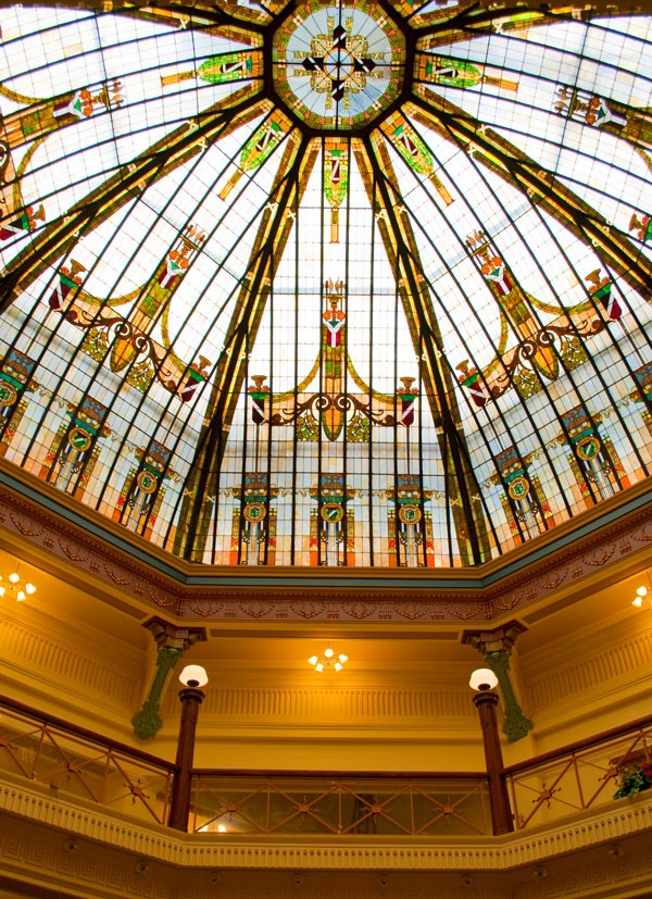 The Stained Gl Rotunda In Boone County Courthouse Lebanon Is Second Largest Dome Indiana To Only At West Baden Springs