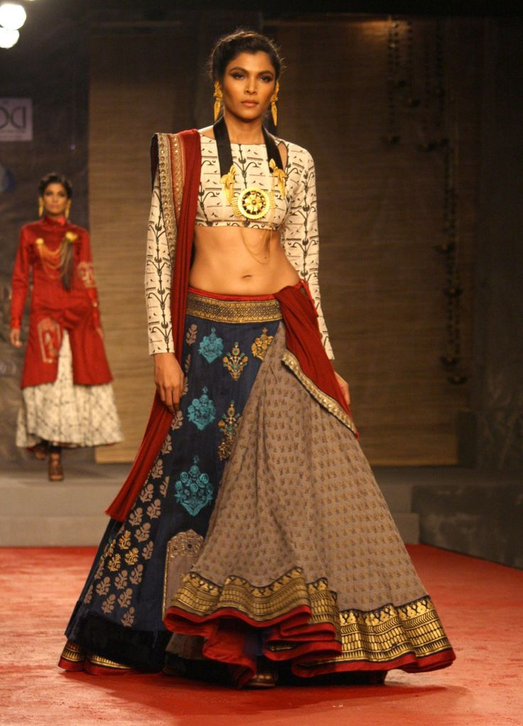 #indian #fashion love the subtle contrasts in patterns colours and textures!