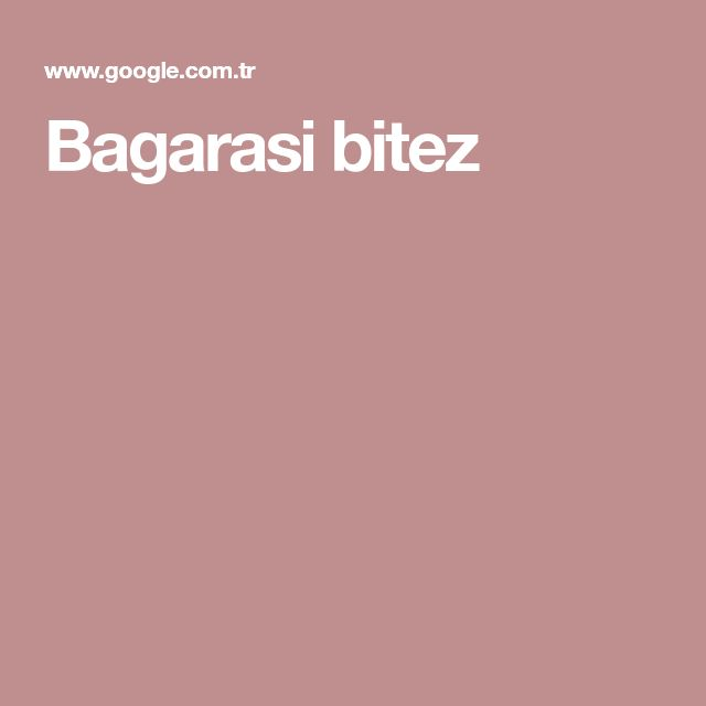 Bagarasi bitez