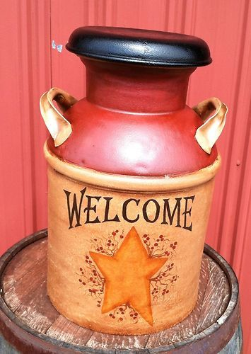 I have one of these..Antique MILK CAN.. future project!