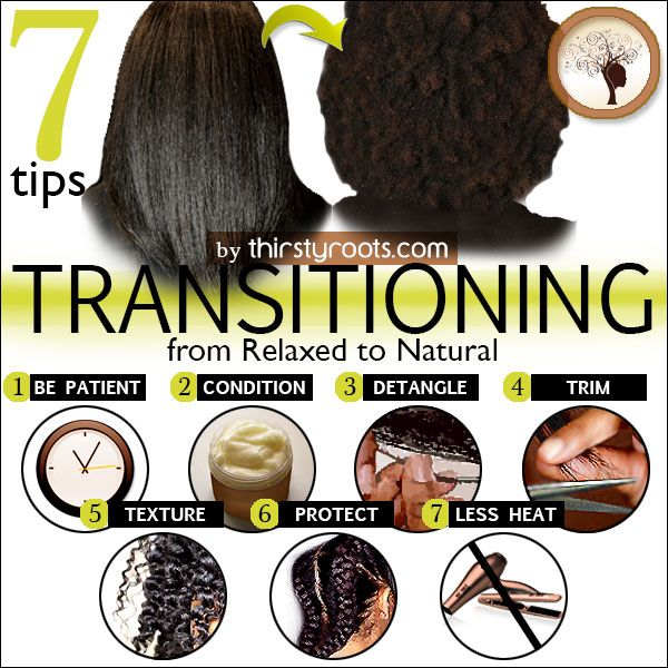 Transitioning from Relaxed to Natural Hair http://thirstyroots.com/7-tips-for-transitioning-from-relaxed-to-natural.html