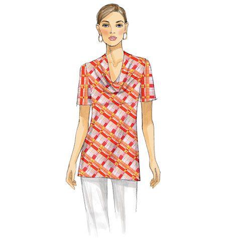 Vogue Patterns - V9006, Misses' Top ...would shorten the sleeves