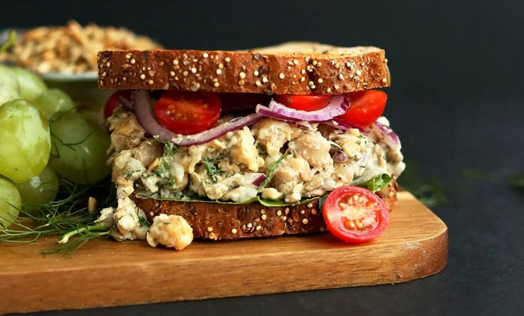 """No-Tuna"" Salad Sandwich - Plant-Based Vegan Recipe"