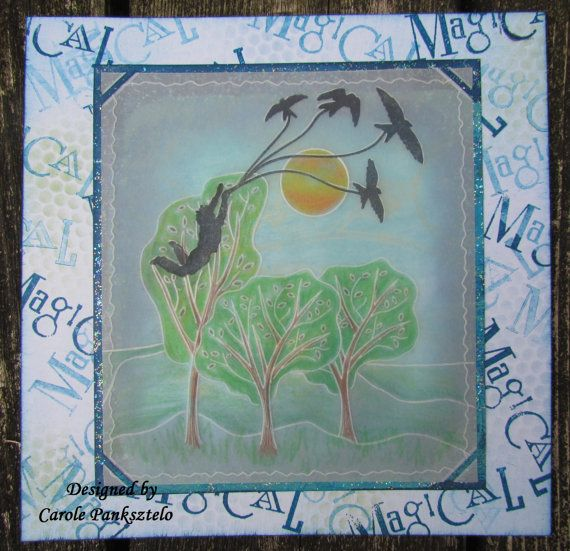 Handcrafted Magical 8x8 greeting card  Suitable by CraftyMrsPanky