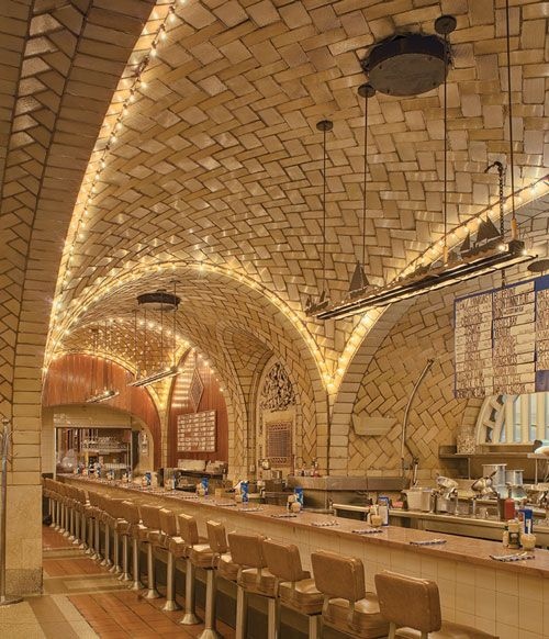Guastavino tile ceiling at the Grand Central Station's Oyster Bar #NYC