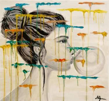 "Saatchi Art Artist Andreea Oprisan; Painting, ""Bubble Gum"" #art"