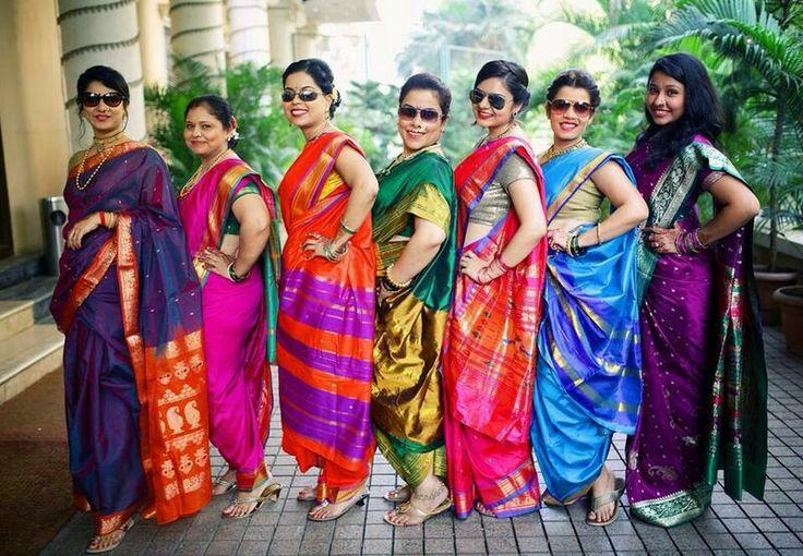 Navvari style in Maharashtrian wedding