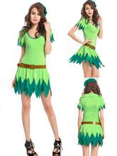 walson instyles sexy halloween costume Woman Green Sexy Fairy Cosplay Tinkerbell Fancy Dress Costume Halloween Adult